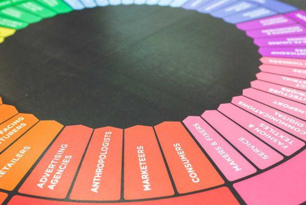 Rueda colores plan marketing efectivo en salud